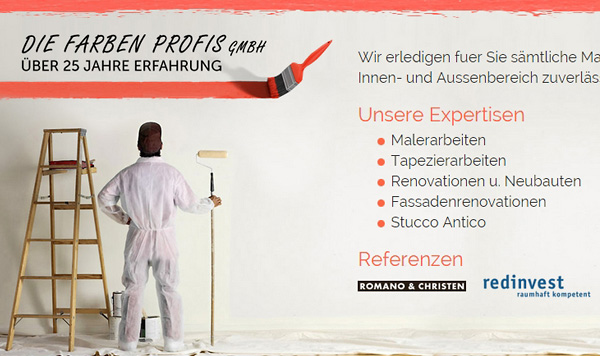New Website for Painting Services - Webdesign Portfolio