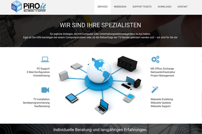 New Website for IT Business – Webdesign Portfolio