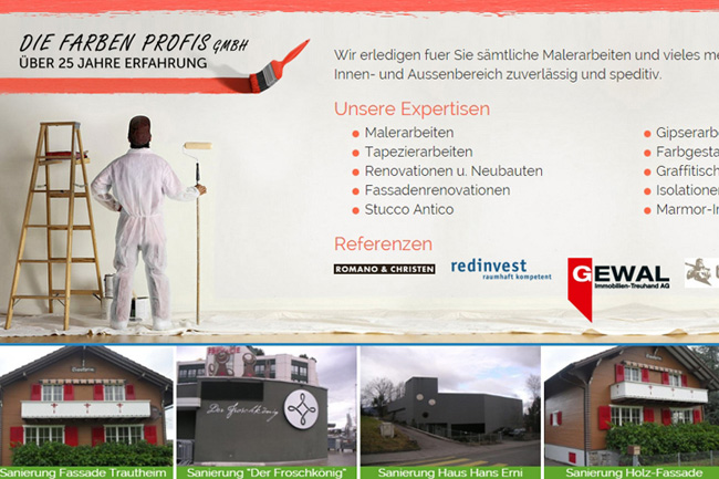 New Website for Painting Services – Webdesign Portfolio