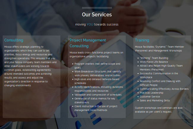 New Website for Business Consulting – Webdesign Portfolio