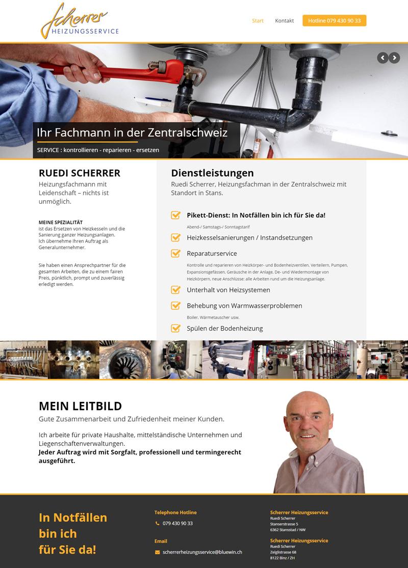 New Website for Repairman - Webdesign Portfolio