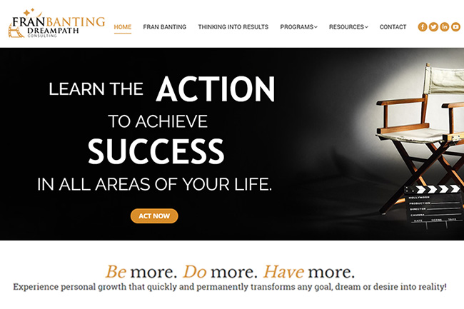 New Website for Personal Counseling Firm – Webdesign Portfolio