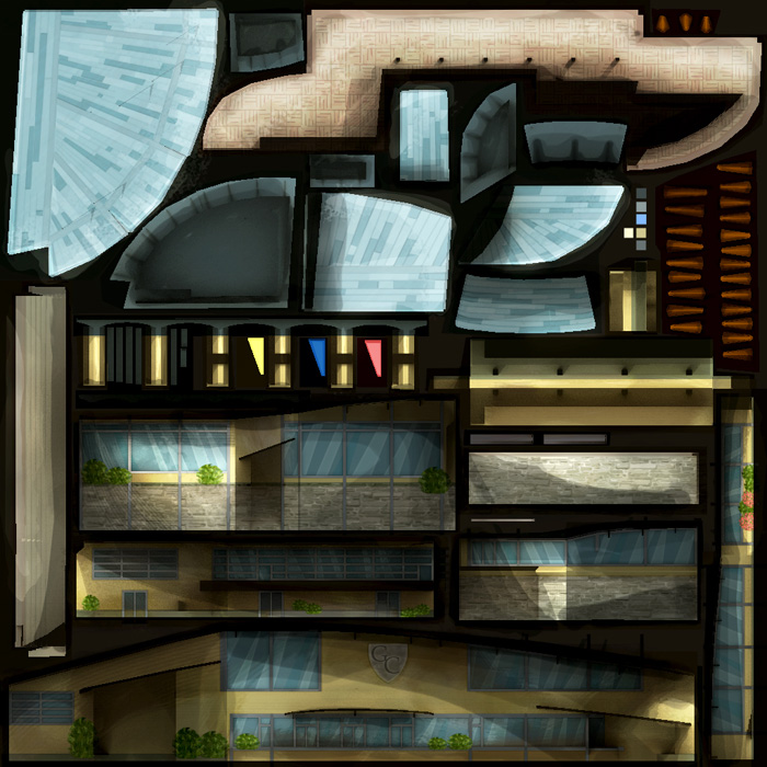 Hand Drawn House Texture for 3D Model - 3D Portfolio