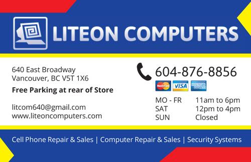 Business Card Computer Repair – Graphic Design Portfolio