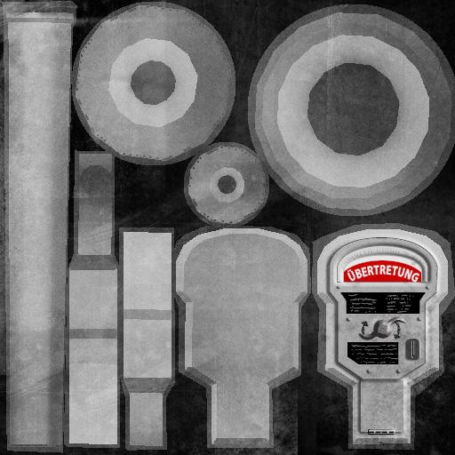 Texture of Parking Meter - 3D Portfolio