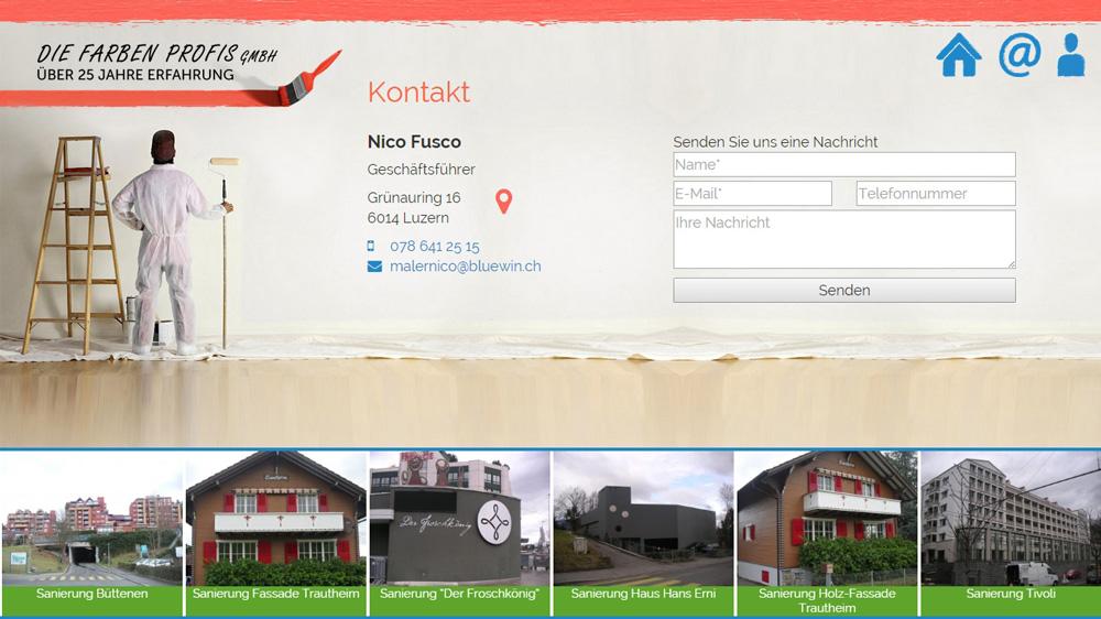 New Website for Painting Services - Webdesign Portfolio