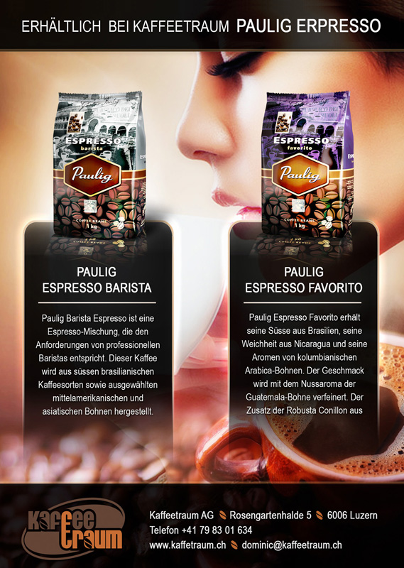 Flyer for Coffe Products - Graphic Design Portfolio
