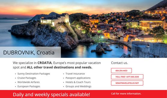 Webdesign Portfolio - for Travel Agency
