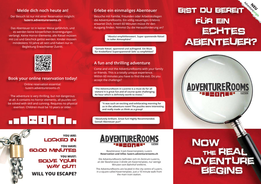 Brochure for Adventure Company - Graphic Design Portfolio