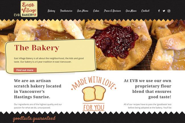 Artisan Bakery Website, affordable web designer vancouver