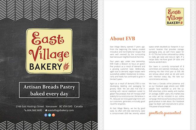Business Presentation for Artisan Bakery - Graphic Design