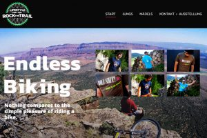 Mountain Bike Clothing Shop Website, Trail, black and red colortheme