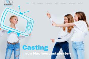 Kids Mediachoaching Website, black/blue/white colortheme