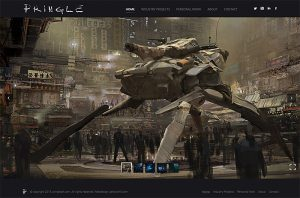 concept artist portfolio website