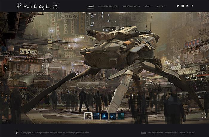 Concept Artist Portfolio Website Webdesign Portfolio