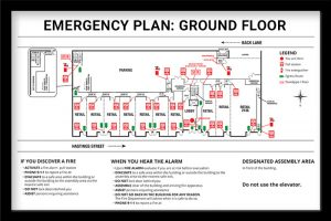 emergency plan poster strata