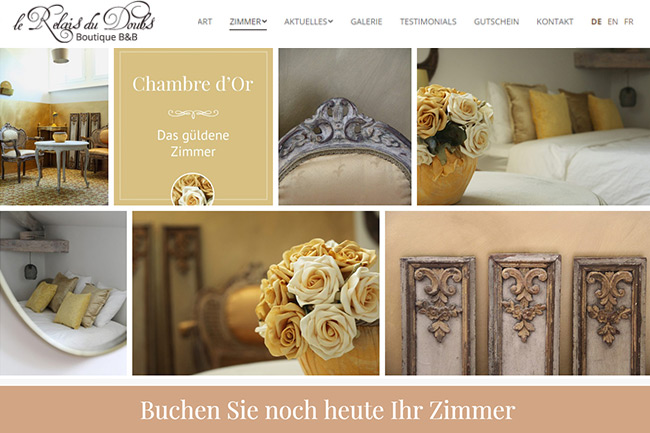 Boutique B&B Website Design Portfolio
