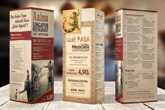 Restaurant Menu Layout Mockup