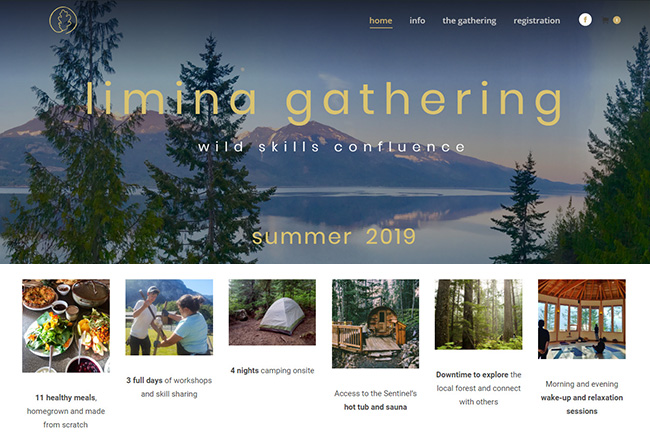 Wild Skills Event Website Portfolio