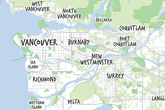 Vector Map of Vancouver