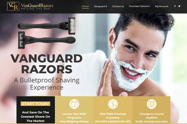 Shave Club Website Design