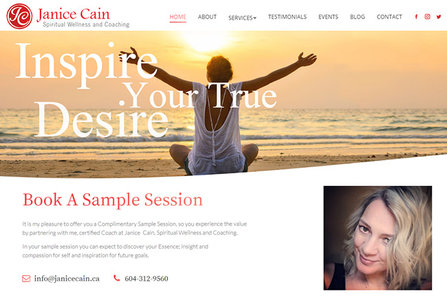 Spiritual Wellness Coach Website Design