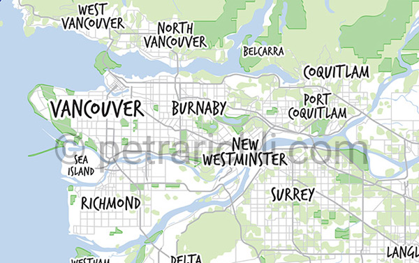 Vector Vancouver Maps