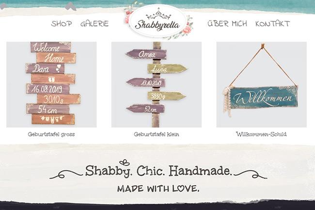 Shop for Baby Name Signs Website Portfolio