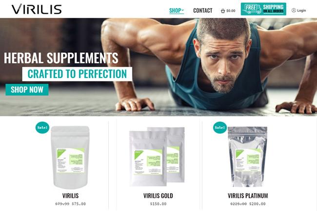 Herbal Supplement Online Store Portfolio