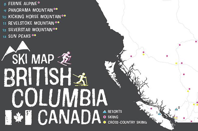 British Columbia Karten Sammlung