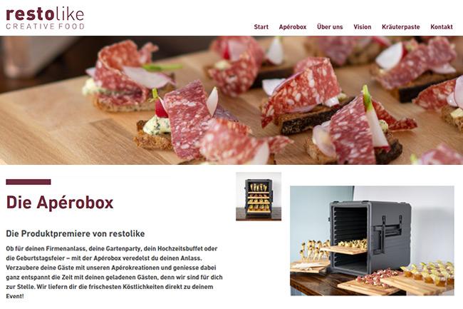 Food Catering Company Website Design Portfolio